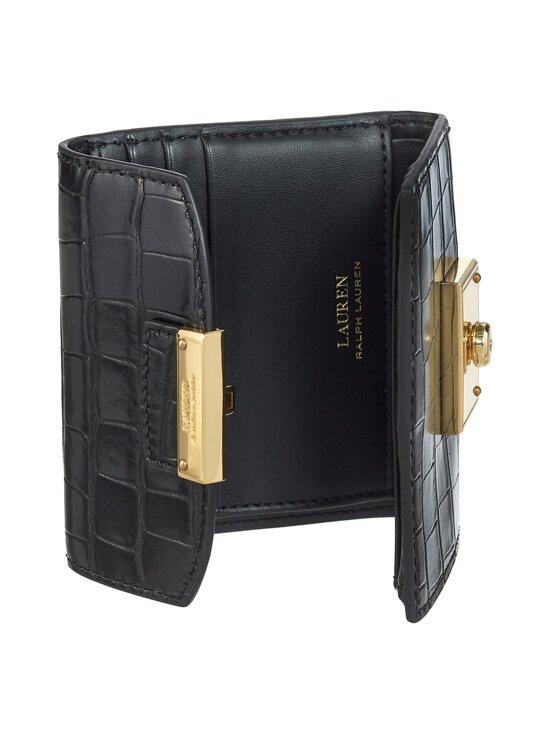 Lauren Ralph Lauren - Lock Wallet Medium -nahkalompakko - 2WAH BLACK | Stockmann - photo 4