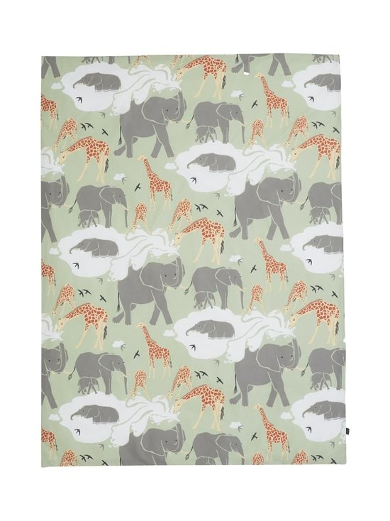 Casa Stockmann - Safari- lasten pussilakana 120 x 160 cm - GREEN/GRAY/YELLOW/WHITE COMBO | Stockmann - photo 1