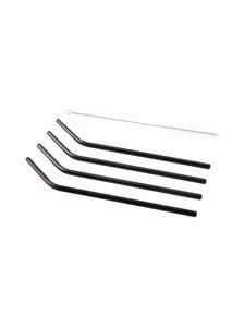 Point Virgule - Kaarevat metallipillit 4 kpl + puhdistusharja - BLACK | Stockmann