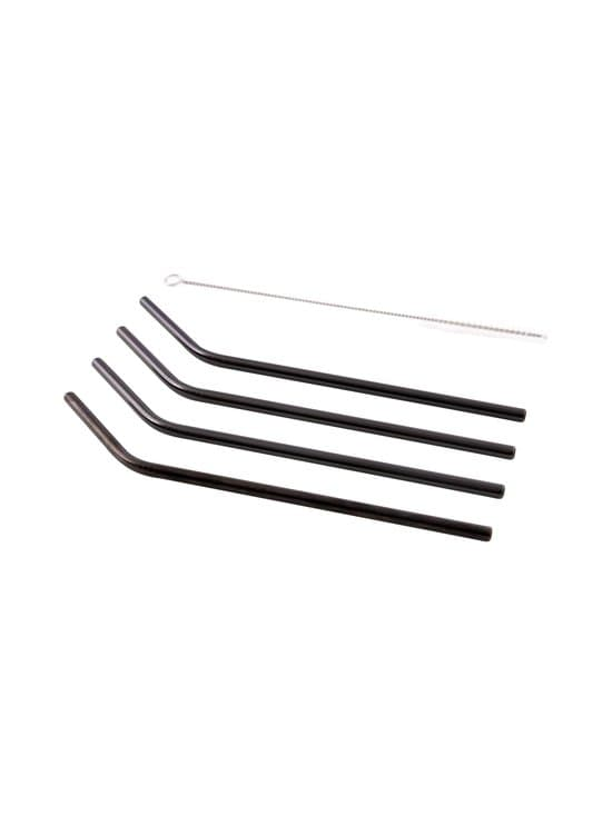 Point Virgule - Kaarevat metallipillit 4 kpl + puhdistusharja - BLACK | Stockmann - photo 1