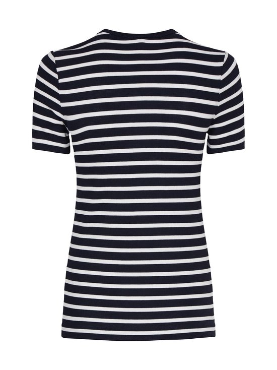 Tommy Hilfiger - Essentials Ribbed Slim Fit T-Shirt -paita - 0X6 WE BRETON STP DESERT SKY   Stockmann - photo 2