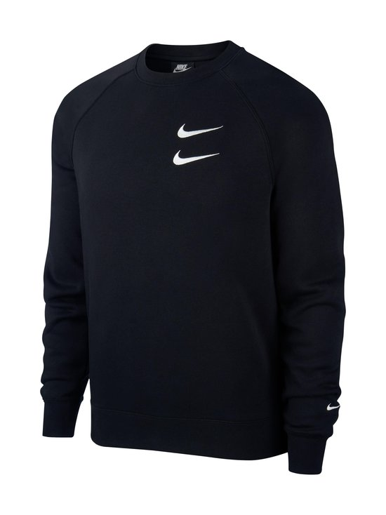 Nike - Swoosh Crew -collegepaita - 010 BLACK/WHITE | Stockmann - photo 1