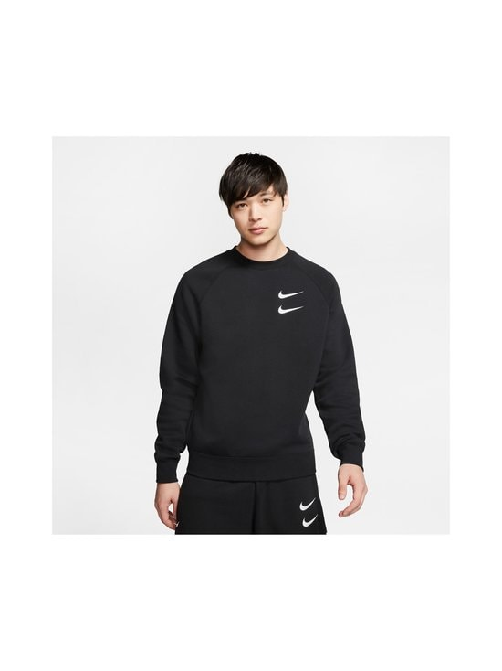 Nike - Swoosh Crew -collegepaita - 010 BLACK/WHITE | Stockmann - photo 3