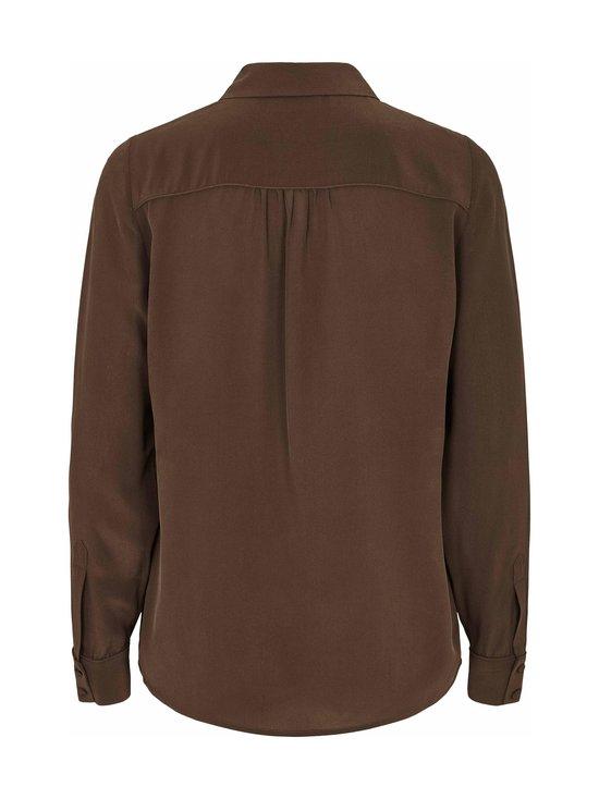 BRUUNS BAZAAR - Lillie Corinne Silk Shirt -silkkipusero - COFFEE BROWN | Stockmann - photo 2