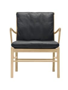 Carl Hansen&Son - Carl Hansen OW149 colonial chair oiled oak leather SIF98 (black) - null | Stockmann