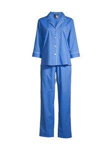 Lauren Ralph Lauren - Notch Collar Long -pyjama - 962 BLUE DOT | Stockmann