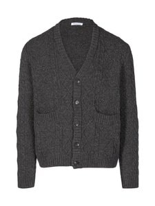Knowledge Cotton Apparel - Valley-neuletakki - 1073 DARK GREY MELANGE | Stockmann