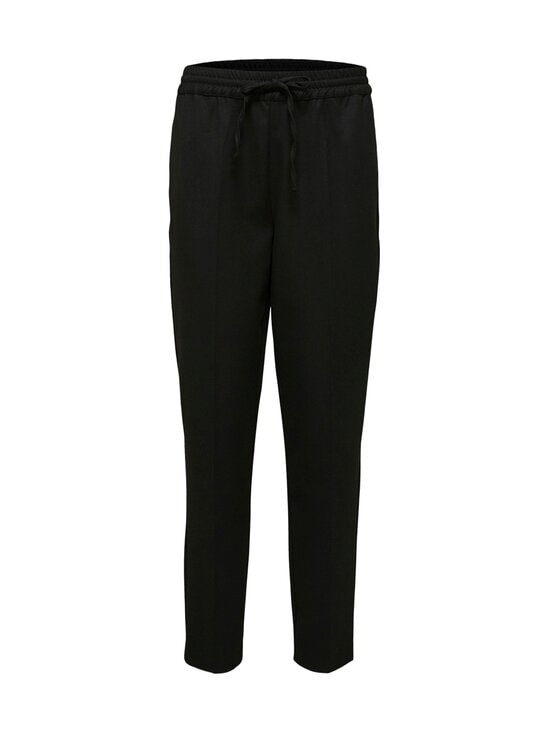 Selected - SlfJulie Medium Waist Comfort Straight Pant -housut - BLACK | Stockmann - photo 1