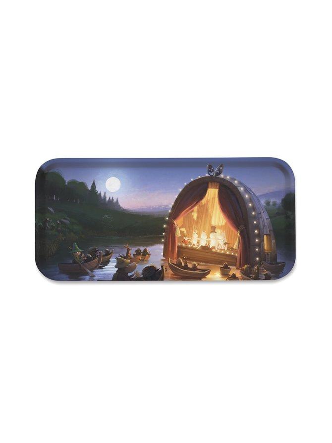 Moominvalley Theatre -tarjotin 32 x 15 cm