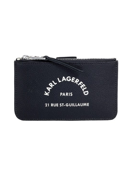 Karl Lagerfeld - Rue St Guillaume Zip Card Hold -korttikotelo - 999 BLACK | Stockmann - photo 1