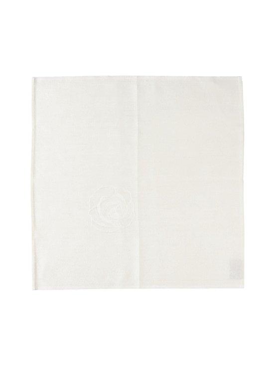 Lapuan Kankurit - 100 Ruusua -pellavalautasliina 48 x 48 cm - VALKOINEN | Stockmann - photo 1