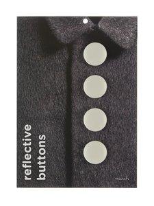 March Design - Heijastava nappi ø 3 cm, 4 kpl - WHITE (VALKOINEN) | Stockmann
