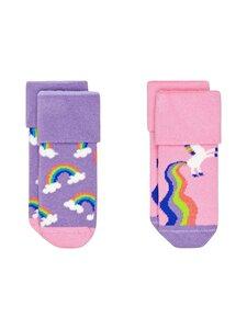 Happy Socks - Rainbow & Unicorn Terry -sukat 2-Pack - 5000 5000-MULTI | Stockmann