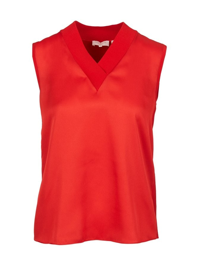 Lydiaay V-Neck Sleeveless Jumper -pusero