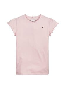 Tommy Hilfiger - Essential Ruffle Sleeve -paita - T1O COTTON CANDY | Stockmann