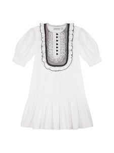 Self-Portrait - Lace-Bib Cotton Mini Dress -mekko - WHITE   Stockmann