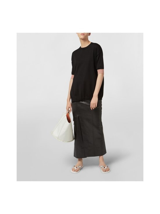 MARNI - Cotton Knit With Bow Side Opening -puuvillaneule - MLN99 BLACK   Stockmann - photo 4