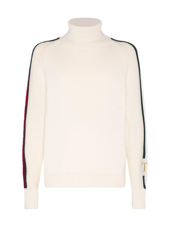 Tommy Hilfiger - Icon Tipped Roll Neck -neule - YBI IVORY | Stockmann - photo 1