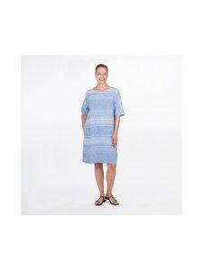 Ritva Falla - Helmi-pellavamekko - 651S BLUE / WHITE STRIPE | Stockmann