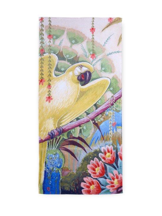 Sitruunankeltainen papukaija -pyyhe 70 x 150 cm
