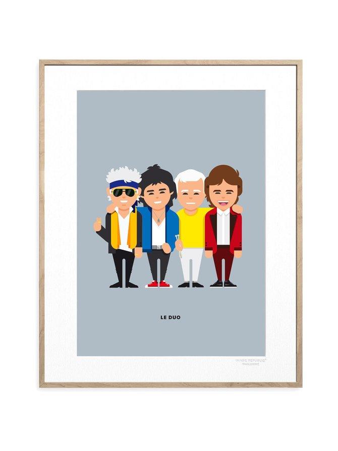 Le Duo Stones -juliste 30 x 40 cm