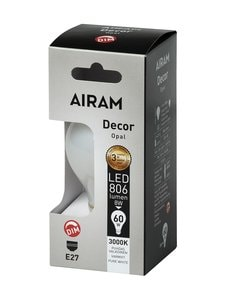Airam - LED Decor Classic Opal 8W E27 DIM -lamppu - WHITE | Stockmann