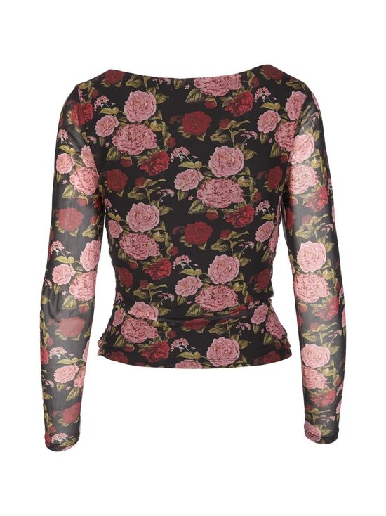 NA-KD - Ruched Long Sleeve -pusero - ROSE PRINT | Stockmann - photo 2