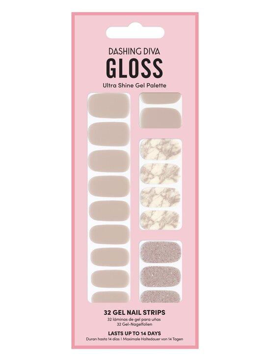 Dashing Diva - Gloss Palette Gel Nail Strips -geelikynsitarrat - MARBLELICIOUS   Stockmann - photo 1