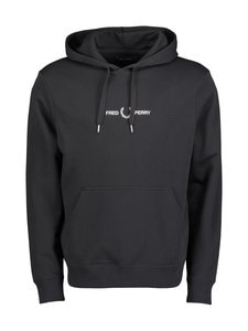 Fred Perry - Graphic Hooded -huppari - 102 BLACK | Stockmann