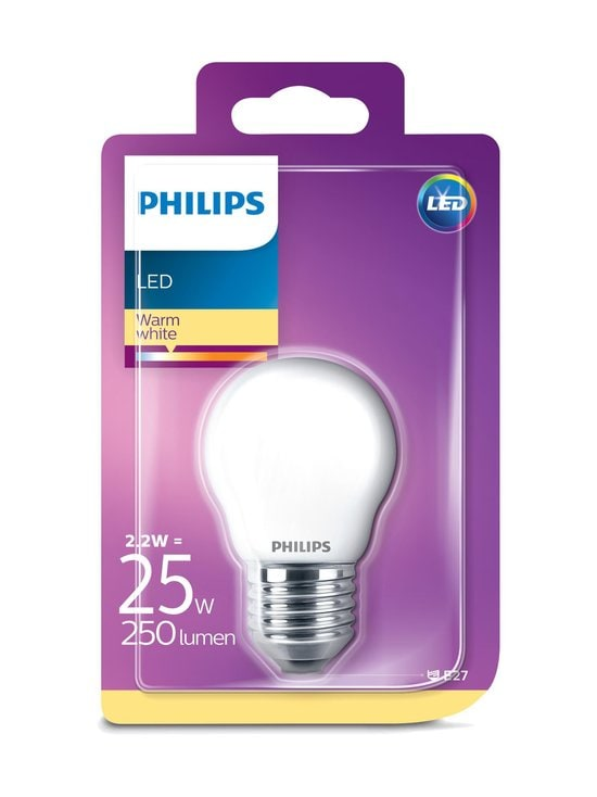 Philips - LED Classic E27 P45 2,2W (25W) -lamppu - WHITE | Stockmann - photo 1