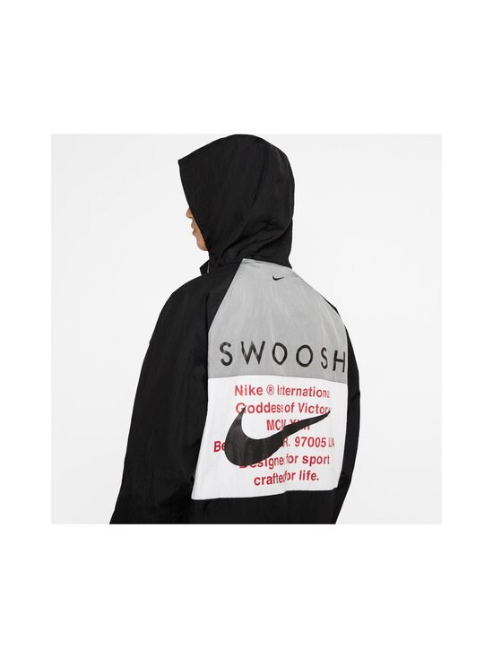 Nike - Swoosh Hooded -takki - 011 BLACK/WHITE/PARTICLE GREY/BLACK | Stockmann - photo 7
