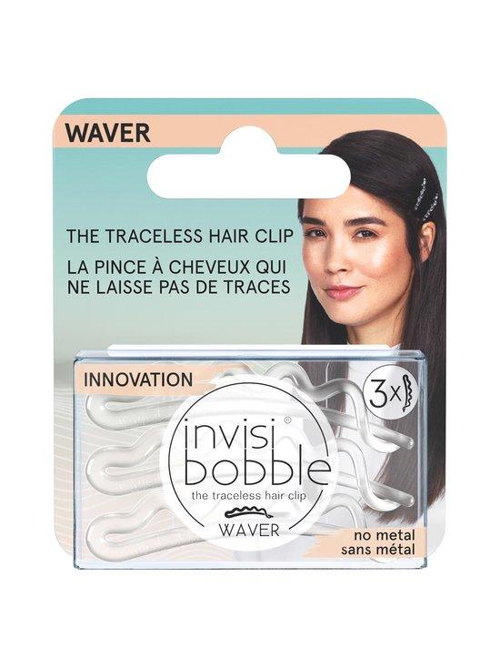 Invisibobble - WAVER Hair Clip -hiuspinni 3 kpl - CRYSTAL CLEAR | Stockmann - photo 1