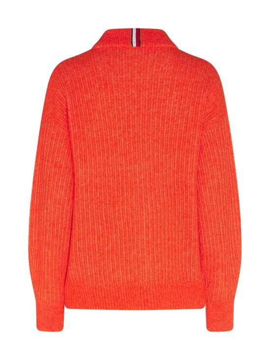 Tommy Hilfiger - Textured Stitch Mock-Neck Sweater -villasekoiteneule - SNF OXIDIZED ORANGE | Stockmann - photo 2