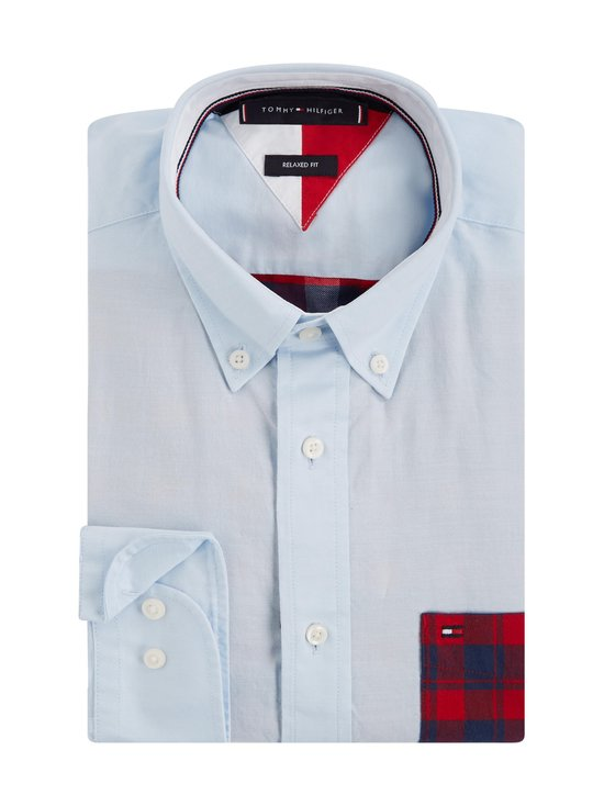 Tommy Hilfiger - Relaxed Contrast Back Shirt -kauluspaita - 0QJ PRIMARY RED / MULTI | Stockmann - photo 3