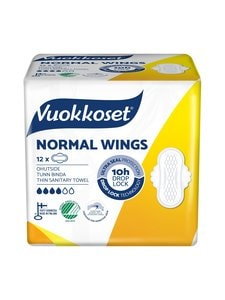 Vuokkoset - Cotton Normal Wings -ohutside 12 kpl - null | Stockmann