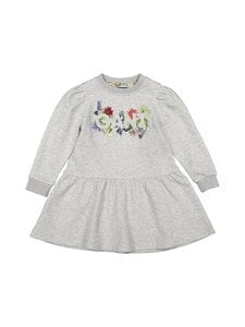 GANT - Flower Logo Sweat Dress -collegemekko - 94 LIGHT GREY MELANGE | Stockmann