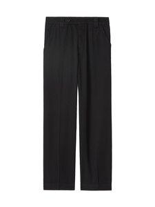 Kenzo - Cropped Pant -housut - 99 - GARMENT DYE COTTON DRILL - BLACK | Stockmann