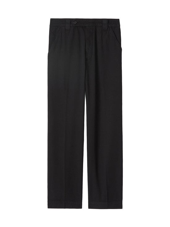 Kenzo - Cropped Pant -housut - 99 - GARMENT DYE COTTON DRILL - BLACK   Stockmann - photo 1