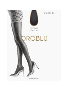 Oroblu - Diamonds 40 den -sukkahousut - BLACK/SILVER | Stockmann