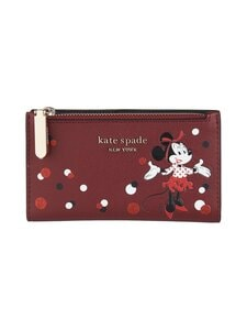 kate spade new york - Disney x kate spade new york Minnie Mouse Small Slim Bifold Wallet -lompakko - RED MULTI | Stockmann