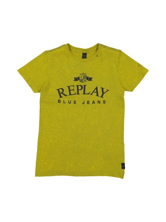 Replay & Sons - Garment Dyed Cotton Jersey -paita - 549 PAPAYA YELLOW | Stockmann - photo 1
