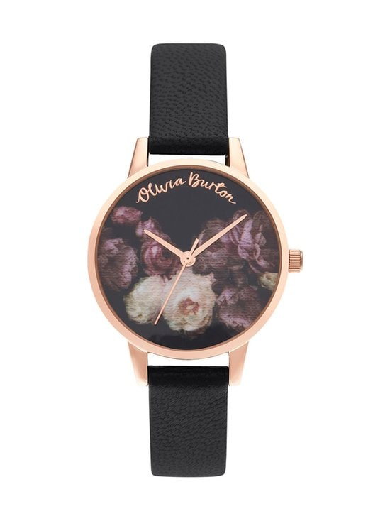 Fine Art Black & Rose Gold -rannekello