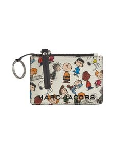 Marc Jacobs - Peanuts® x Marc Jacobs The Top-Zip Multi Wallet -nahkalompakko - WHITE MULTI 101 | Stockmann