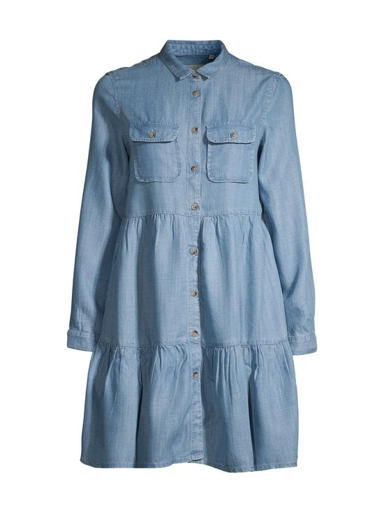 Superdry - Tiered Shirt Dress -mekko - 3GK LIGHT INDIGO USED | Stockmann - photo 1