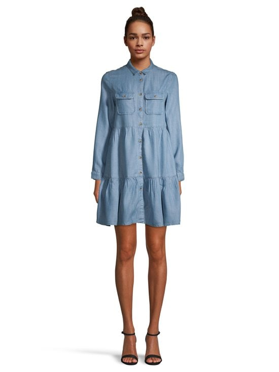 Superdry - Tiered Shirt Dress -mekko - 3GK LIGHT INDIGO USED | Stockmann - photo 2