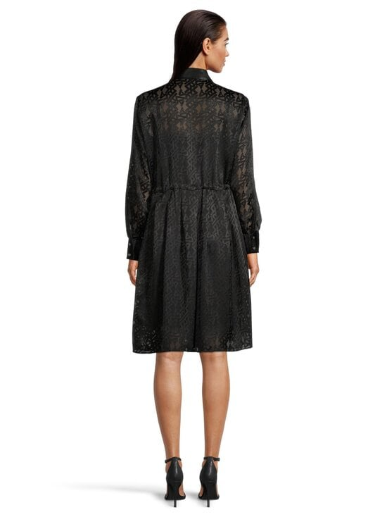 Karl Lagerfeld - Burn Out Logo Satin Dress -mekko - 999 BLACK | Stockmann - photo 3