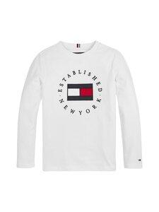 Tommy Hilfiger - Heritage Logo Tee -paita - YBR WHITE | Stockmann
