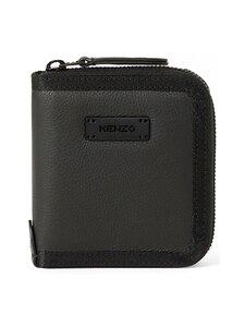 Kenzo - Trek Small Zipped Leather Wallet -nahkalompakko - BLACK | Stockmann