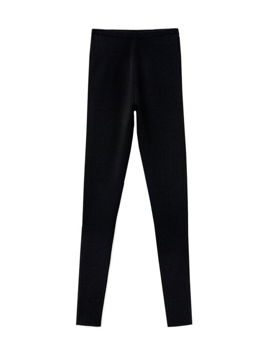 Totême - Compact Knit -leggingsit - BLACK | Stockmann - photo 1