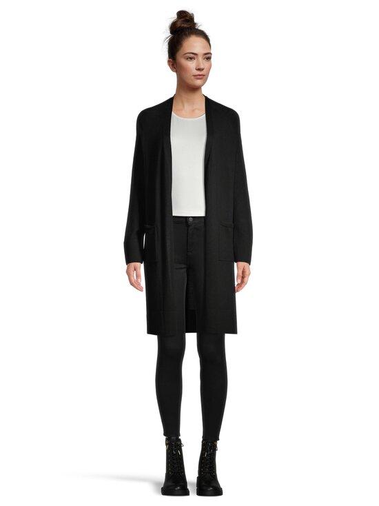 cut & pret - AIRY long cardigan -villaneuletakki - BLACK SOLID | Stockmann - photo 2